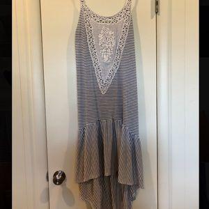 Hi Lo Anthropologie Boho Striped Dress
